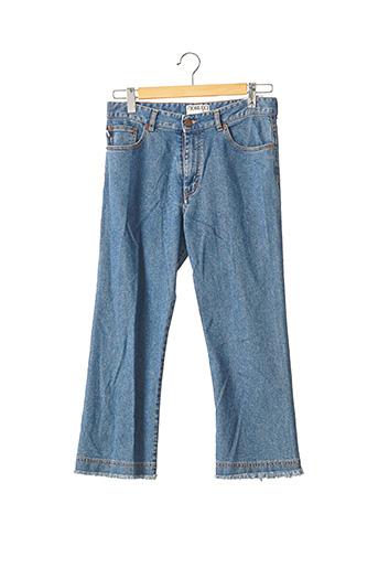 Pantalon 7/8 bleu FIORUCCI pour femme
