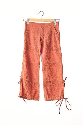 Pantalon 7/8 orange FATU HIVA pour femme