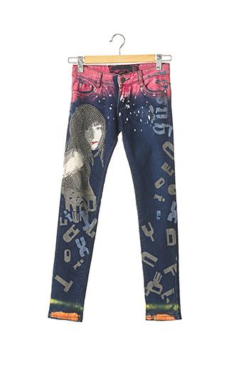 Pantalon casual bleu SANS MARQUE pour femme