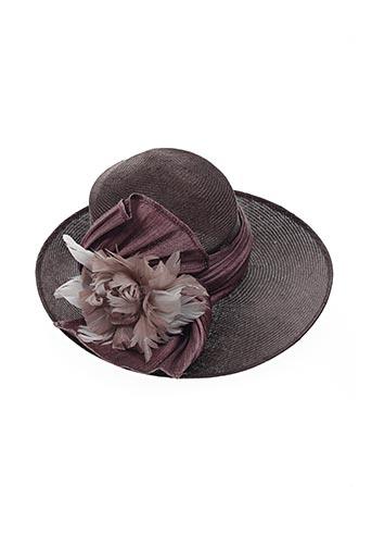Chapeau marron E.WERLE pour femme