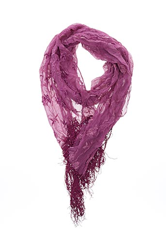 Foulard rose LOLITA LEMPICKA pour femme