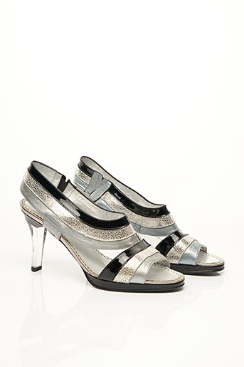 Sandales/Nu pieds gris AZUREE pour femme