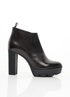 Bottines/Boots noir SANTONI pour femme