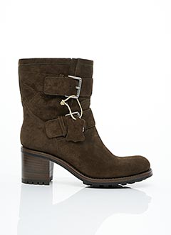Bottines/Boots vert FREE LANCE pour femme