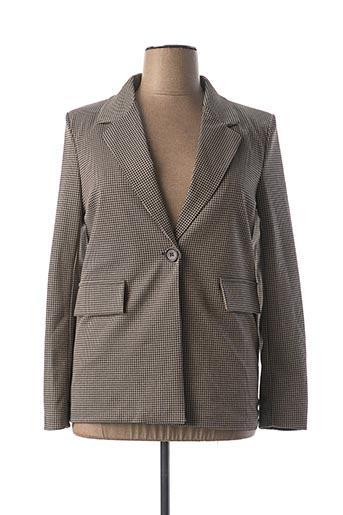 Veste chic / Blazer beige CAPUCINE MODA pour femme