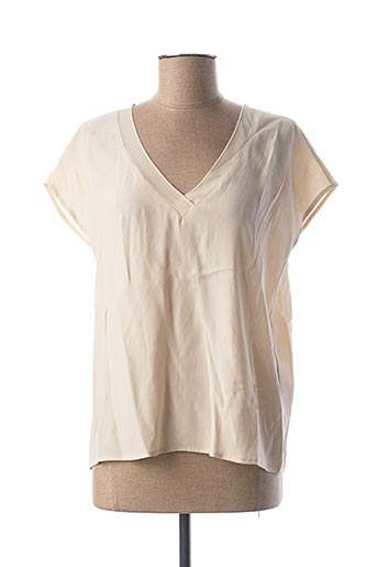 Blouse manches courtes beige AWARE BY VERO MODA pour femme