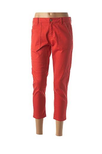 Pantalon 7/8 rouge VERO MODA pour femme