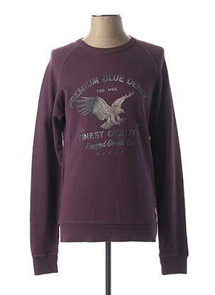Sweat-shirt violet JACK & JONES pour homme