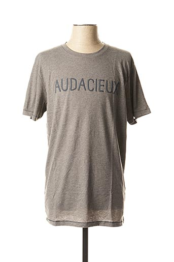 T-shirt manches courtes gris JACK & JONES pour homme