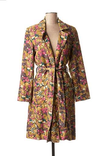 Manteau long vert CHICOSOLEIL pour femme