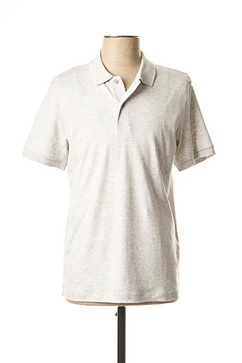 Polo manches courtes gris SELECTED pour homme