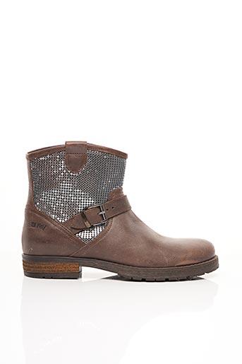 Bottines/Boots marron BI KEY pour femme
