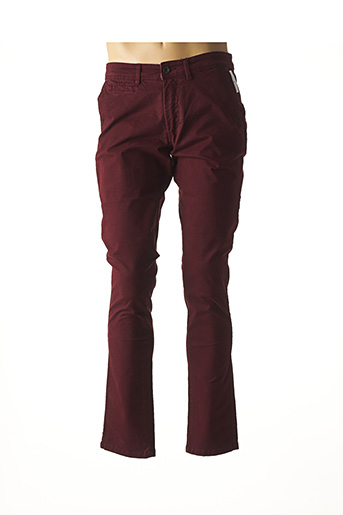 Jeans coupe droite rouge DELAHAYE pour homme