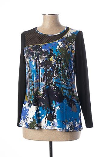 T-shirt manches longues bleu MALOKA pour femme