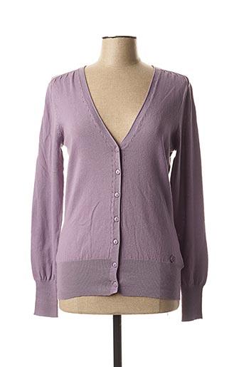 Gilet manches longues violet BX pour femme