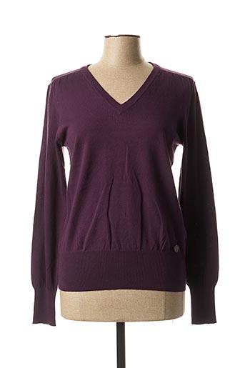 Pull col V violet BX pour femme
