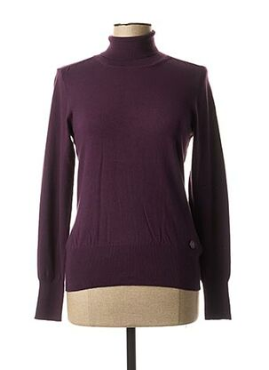 Pull col roulé violet BRANDTEX pour femme