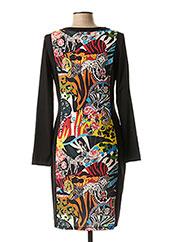 Robe mi-longue noir MALOKA pour femme seconde vue