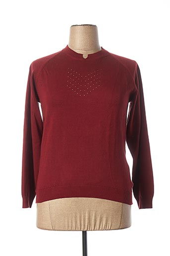 Pull col rond rouge LEE COOPER pour femme