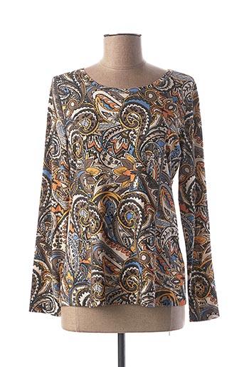 T-shirt manches longues gris TUZZI pour femme