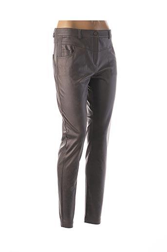Pantalon casual gris EVA KAYAN pour femme