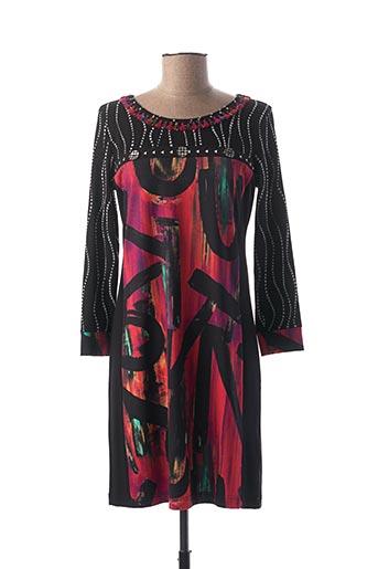 Robe mi-longue noir OLIVIER PHILIPS pour femme