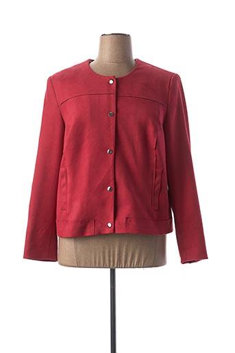 Veste casual rouge CHRISTINE LAURE pour femme