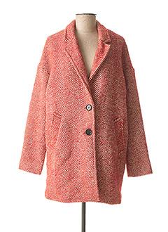 Manteau long rouge IMUA pour femme