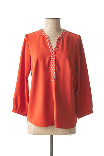 Blouse manches longues orange IMUA pour femme