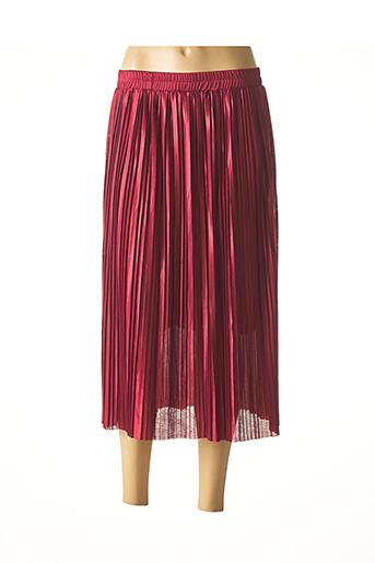 Jupe mi-longue rouge IMUA pour femme