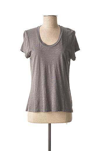 T-shirt manches courtes gris AMERICAN VINTAGE pour femme