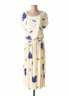 Robe mi-longue beige DES PETITS HAUTS pour femme