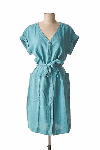 Robe mi-longue bleu BENSON & CHERRY pour femme