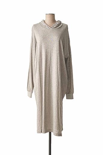 Robe mi-longue gris AMERICAN VINTAGE pour femme