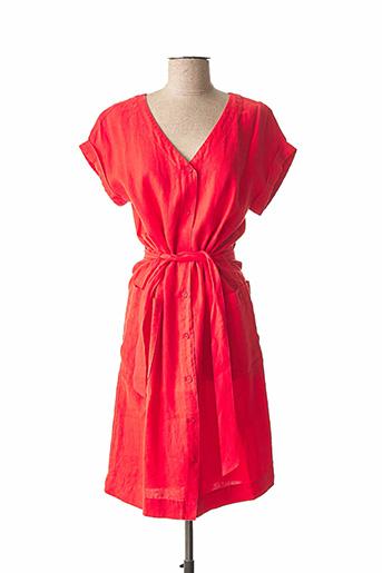 Robe mi-longue rouge BENSON & CHERRY pour femme