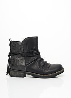 Bottines/Boots noir RIEKER pour femme
