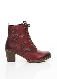 Bottines/Boots rouge REMONTE pour femme