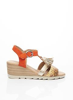 Sandales/Nu pieds orange GEO-REINO pour femme