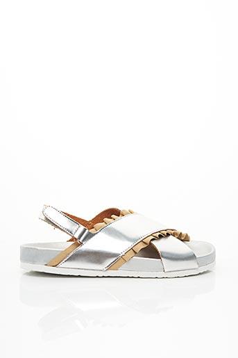 Sandales/Nu pieds gris COLORS OF CALIFORNIA pour femme