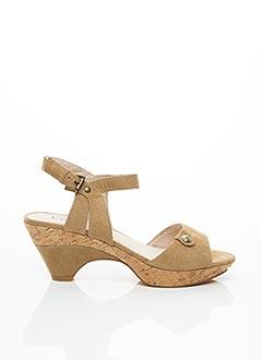 Sandales/Nu pieds beige LES P'TITES BOMBES pour femme