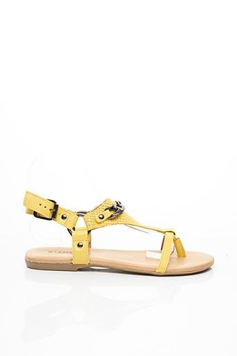 Sandales/Nu pieds jaune BIANCO. pour femme