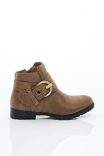 Bottines/Boots marron LES P'TITES BOMBES pour fille