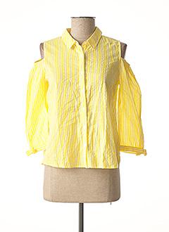 Chemisier manches courtes jaune PEPE JEANS pour fille