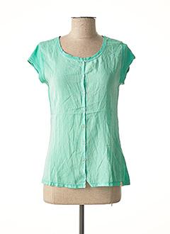T-shirt manches courtes vert BRIAN & NEPHEW pour fille