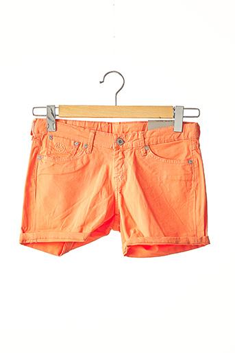 Short orange PEPE JEANS pour fille