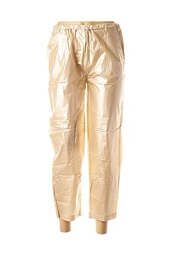 Pantalon 7/8 beige LA FEE MARABOUTEE pour femme