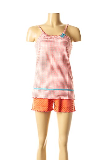 Pyjashort rouge ROSE POMME pour femme