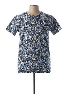 T-shirt manches courtes bleu DSTREZZED pour homme