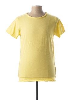 T-shirt manches courtes jaune DSTREZZED pour homme