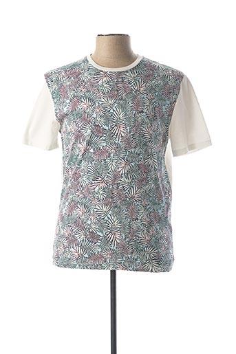 T-shirt manches courtes blanc HARRIS WILSON pour homme